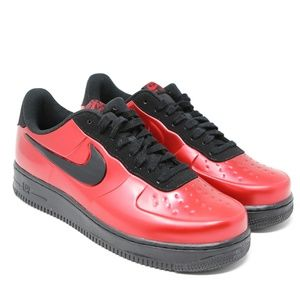 Nike Air Force 1 AF1 Foamposite Pro Cup Red Cough